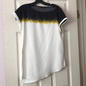 Zara Watercolor Asymmetrical Top